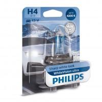 Bec auto pentru far, Philips WhiteVision Ultra H4, 60/55 W, 12 V