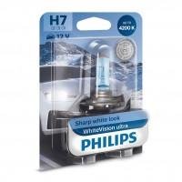 Bec auto pentru far, Philips WhiteVision Ultra H7, 55 W, 12 V