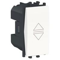 Intrerupator jaluzele Schneider Electric Easy Styl LMR0711001, incastrat, modular - 1, alb