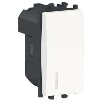 Intrerupator simplu cu indicator luminos Schneider Electric Easy Styl LMR1401001, incastrat, modular - 1, alb