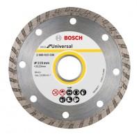 Disc diamantat, segmentat, pentru dbitare beton / zidarie / granit, Bosch Eco for Universal, 115 x 22.23 x 2 mm