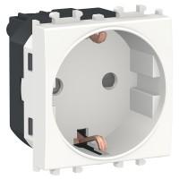 Priza simpla Schneider Electric Easy Styl LMR5210001, 2P+E+OBT, incastrata, modulara - 2, alba
