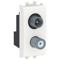 Priza TV + SAT capat Schneider Electric Easy Styl LMR6138001, modulara - 1, alba