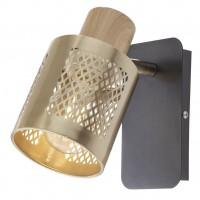 Aplica Basket 04-519, 1 x E27, negru mat + bronz