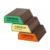 Burete abraziv, Bosch 2608621252,  69 x 97 x 26 mm, set 3 bucati