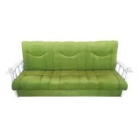Canapea extensibila 3 locuri Laura, cu lada, verde + brate albe, 215 x 85 x 83 cm, 1C
