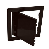 Usita vizitare, TE-MA, pentru instalatii sanitare, maro, 20 x 30 cm