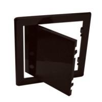 Usita vizitare, TE-MA, pentru instalatii sanitare, maro, 30 x 30 cm