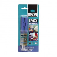 Adeziv bicomponent universal, Bison Epoxy Universal, transparent, 24 ml