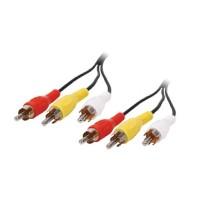 Cablu 3 RCA tata - 3 RCA tata VLVP24300B20, 2 m