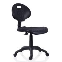 Scaun laborator ergonomic 1290 Nor, rotativ, poliuretan, negru