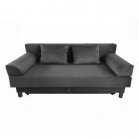 Canapea extensibila 3 locuri Erika, cu lada, gri inchis, 200 x 100 x 100 cm, 1C