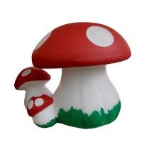 Statueta ciuperca cu pui OG06, decoratiune gradina, ceramica, H 30 cm