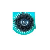 Perie cupa, cu tija, din nylon abraziv pentru inox / aluminiu, Peromex 5223G, diametru 75 mm