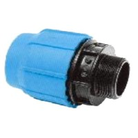 Racord compresiune PEHD, filet exterior, D 20 mm x 3/4""