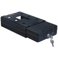Caseta pentru calatorii Rottner TravelSafe T04494, cheie, din tabla de otel, negru, 22 x 16.3 x 6.6 cm