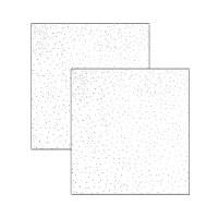 Tavan casetat Rigips Casostar A, gips carton, muchie dreapta, 600 x 600 x 9.5 mm (3,6 mp/cutie)