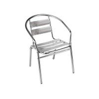 Scaun pentru gradina, ZRE00034, aluminiu, gri