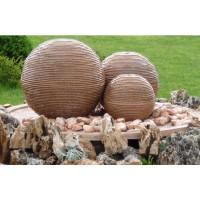 Fantana arteziana piatra placa si bazin Vario3000, decoratiune gradina, 120 x 120 x 20 cm