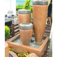 Fantana arteziana, Cele 3 etniche Muse, decoratiune gradina, cu pompa de recirculare apa