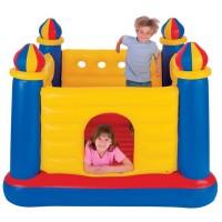 Centru de joaca, Intex Jump-o-Lene Castel, din plastic, interior, 175 x 175 x 135 cm