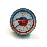 Termomanometru axial 0 - 6 ATM, 0 - 120 grade C, 259