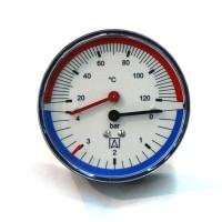 Termomanometru radial 0 - 6 ATM, 0 - 120 grade C, 258