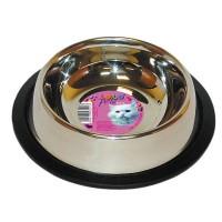 Castron inox pentru pisici, Lolo pets, antiderapant, 0,250 l