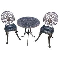 Set masa rotunda, cu 2 scaune, pentru gradina San Remo, din metal