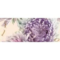 Decor faianta baie / bucatarie Annecy flower marengo lucios lila 20 x 50 cm