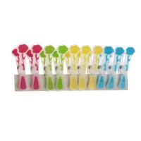 Carlige pentru rufe Maxi Flower, diverse culori, silicon, 10 buc / set