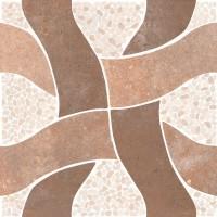 Gresie decor exterior / interior portelanata antiderapanta Nervastone 90531 maro, mata, 33 x 33 cm