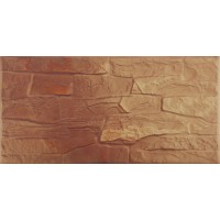 Placa soclu exterior klinker Kamienie CER3, mata, maro 14.8 x 30 cm