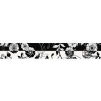 Brau faianta Ciragan negru lucios 7 x 50 cm