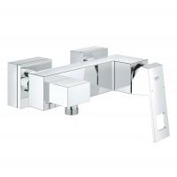 Baterie baie, pentru dus, Grohe Eurocube 23145000, monocomanda, montaj aplicat, finisaj cromat
