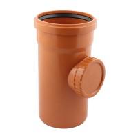 Piesa curatire PVC cu inel, D 200 mm