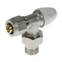 """Robinet retur colt cu conector, pentru calorifer, APE, 16 mm, D 1/2"""""""