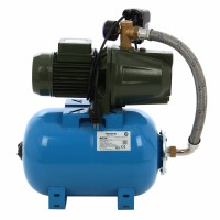 Hidrofor Saer M80, cu pompa autoamorsanta din fonta + vas 24 L + presostat + manometru + furtun flexibil + racord 5 cai, 750 W