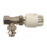 Robinet termostatat pentru calorifer + racord teava cupru, RBM, 9700400