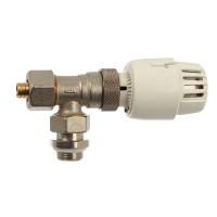 "Robinet termostatat pentru calorifer + racord teava pexal, RBM, 9700410, 1/2"""