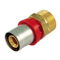 Racord presare PFM1 Tiemme, alama, filet exterior, D 20.2 mm x 1/2""