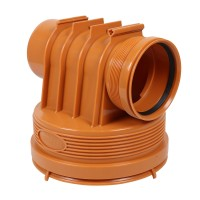 Baza camin canalizare, PVC, D 315 mm, cu 1 intrare + 1 iesire D 110 mm