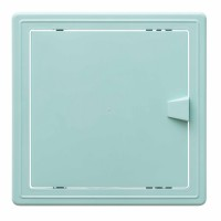 Usita vizitare, TE-MA, pentru instalatiile sanitare, verde deschis, 15 x 15 cm