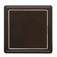 Usita vizitare, TE-MA, pentru instalatiile sanitare, maro, 15 x 15 cm