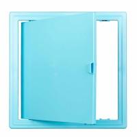 Usita vizitare, TE-MA, pentru instalatiile sanitare, albastru deschis, 20 x 20 cm