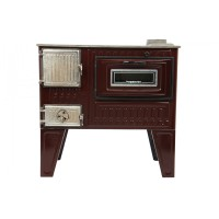 Soba email, pe lemne, Hosseven 4011, cu plita si cuptor, 5.5 kW, 800 x 530 x 465 mm