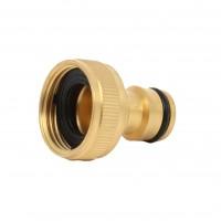 Adaptor robinet - cupla furtun pentru irigatii gradina, 1 iesire, filet interior, 19 mm, alama, 0500109
