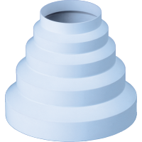 Reductie plastic pentru ventilatie, Vents, D 80, 100, 120, 125, 150 mm