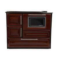 Soba email, pe lemne, Hosseven 4010, cu plita si cuptor, 5 kW, 900 x 760 x 530 mm