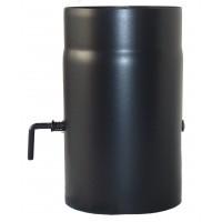 Burlan cu clapeta 0072, din otel, 150/250 mm, negru